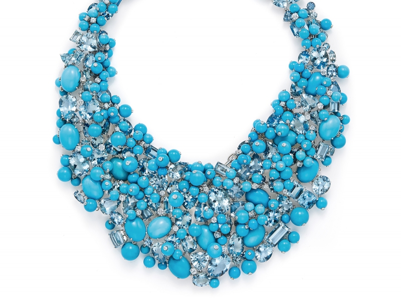 Tiffany & Co. Blue Book Collection - High Jewelry necklace set with sapphires and turquoises