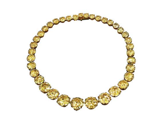 Jacob & Co Yellow diamond riviera necklace