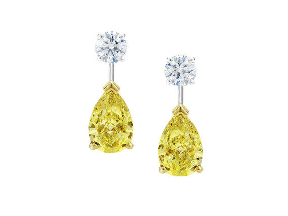 De Beers Drops of light earrings