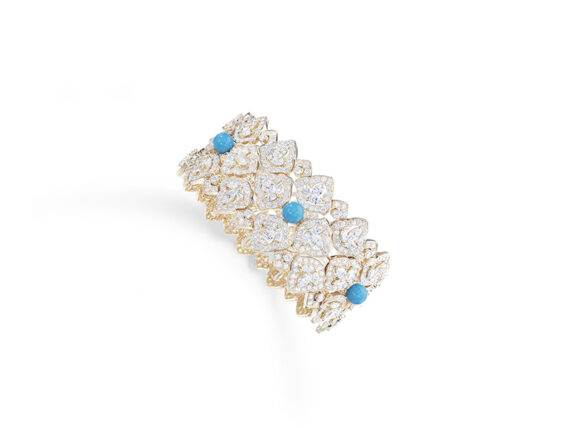 Piaget Bracelet mounted on rose gold with diamonds and turquoise