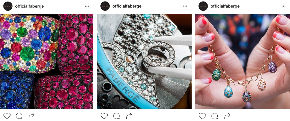 Fabergé instagram pictures diamonds jewelry eggs
