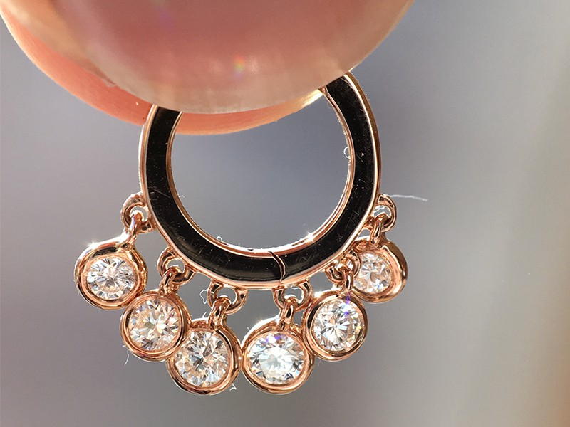 Jacquie aiche earring diamonds rose gold