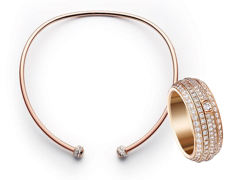 Piaget Possession collection diamonds rose gold ring choker