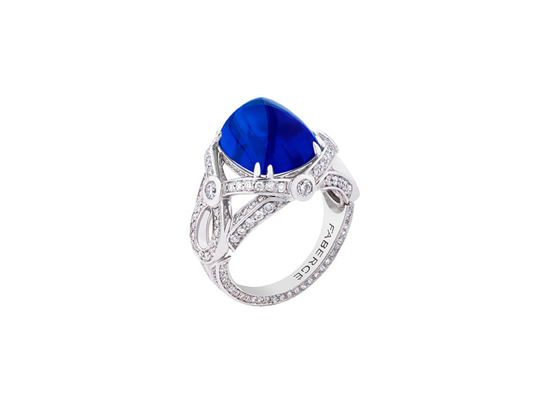 Faberge Devotion sapphire ring