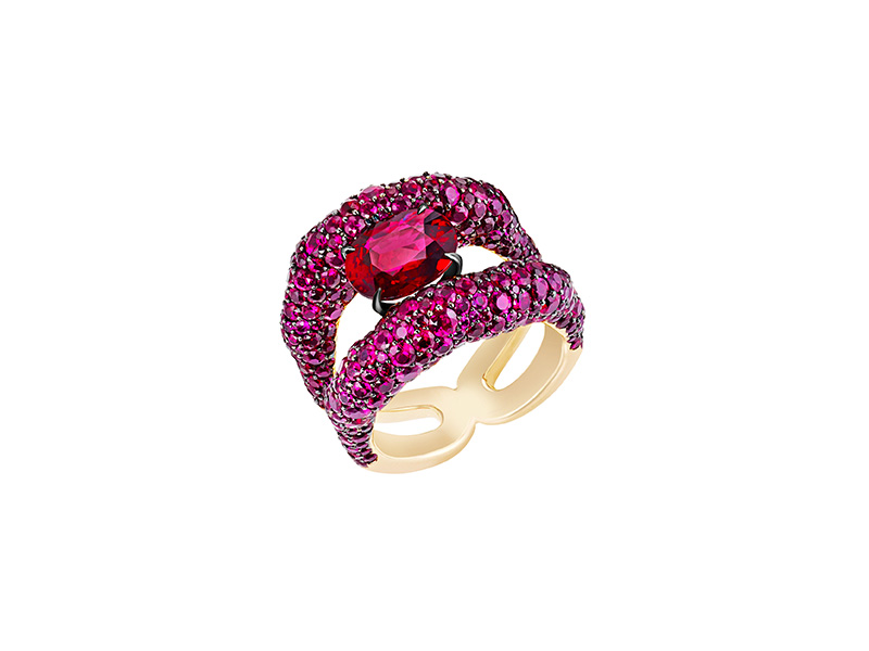 Faberge Emotion Charmeuse Ruby ring