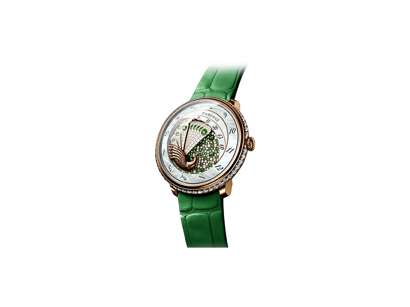 Faberge Lady compliquee peacock emerald wacth