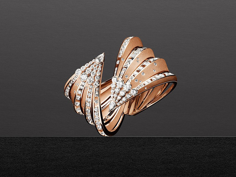 Dune by Alexandre Reza diamonds rose gold