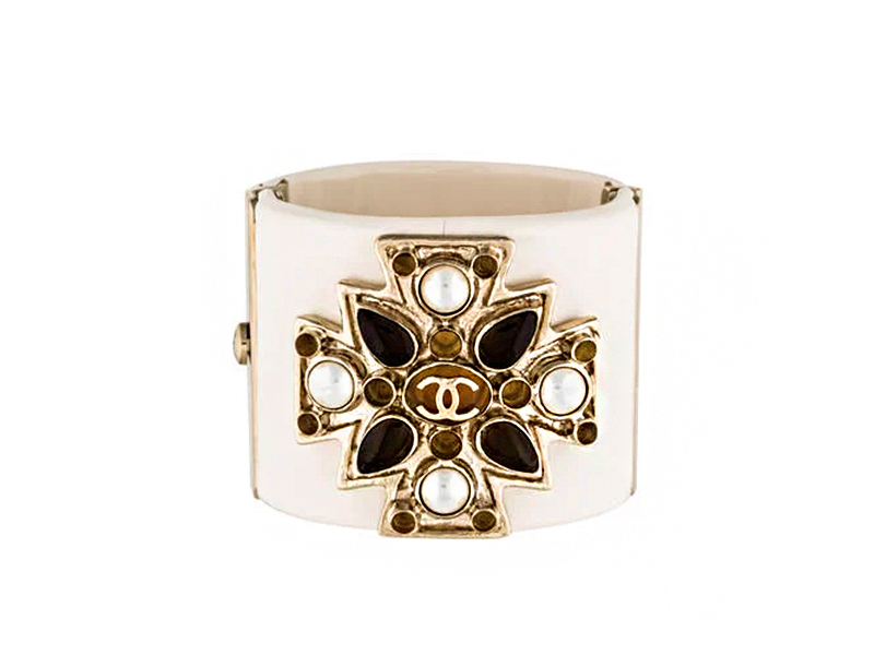 Chanel - Chanel Resin Maltese Cross Cuff