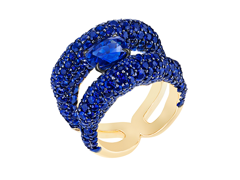 Fabergé Emotion charmeuse blue sapphire ring
