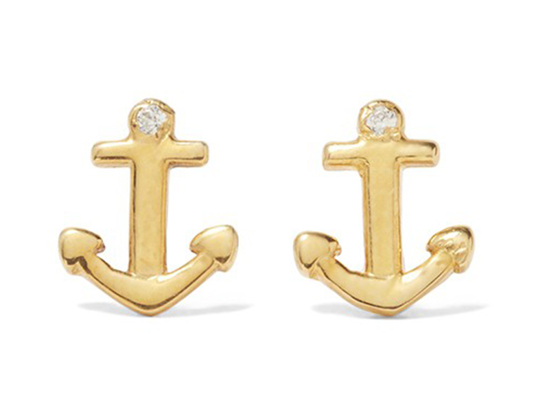 Aamaya by Priyanka Anchor gold-plated topaz earrings ~ GBP£ 127