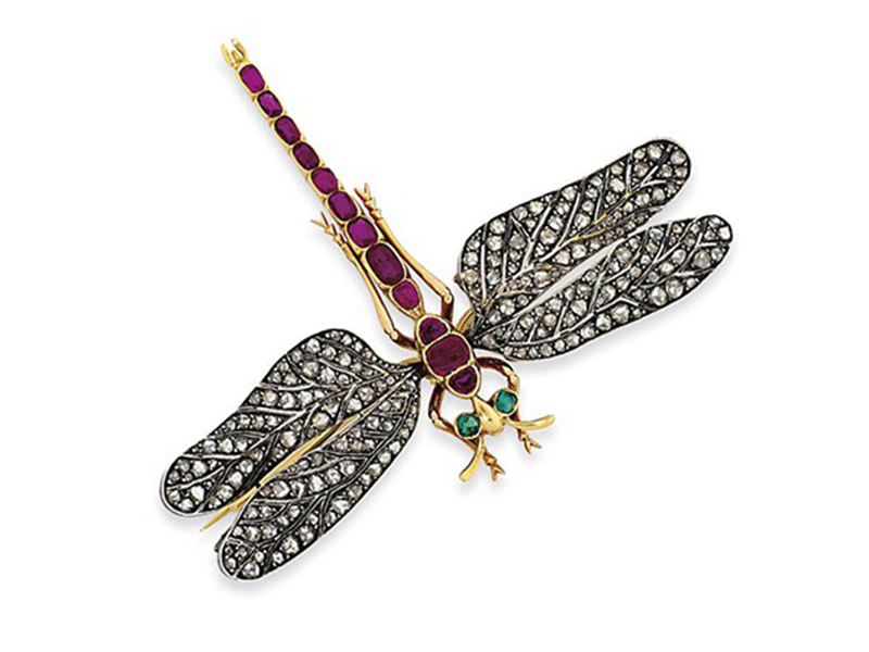 Christine's important jewels Dragonfly brooch
