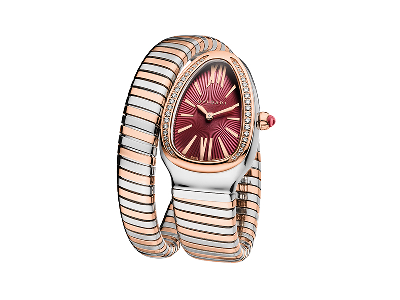 Bvlgari Serpenti Tubogas watch grose gold