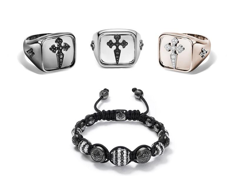 Christina Debs & Fabergé rings bracelet
