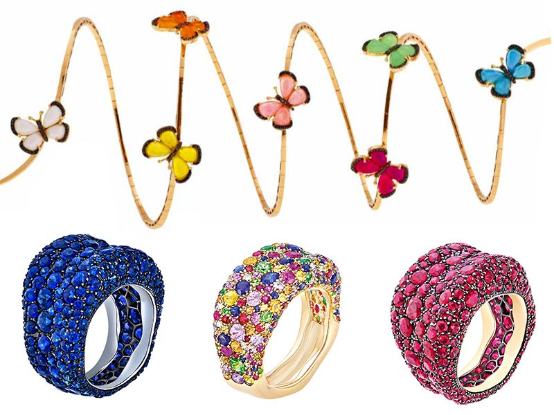 Christina Debs & Fabergé rings diamonds