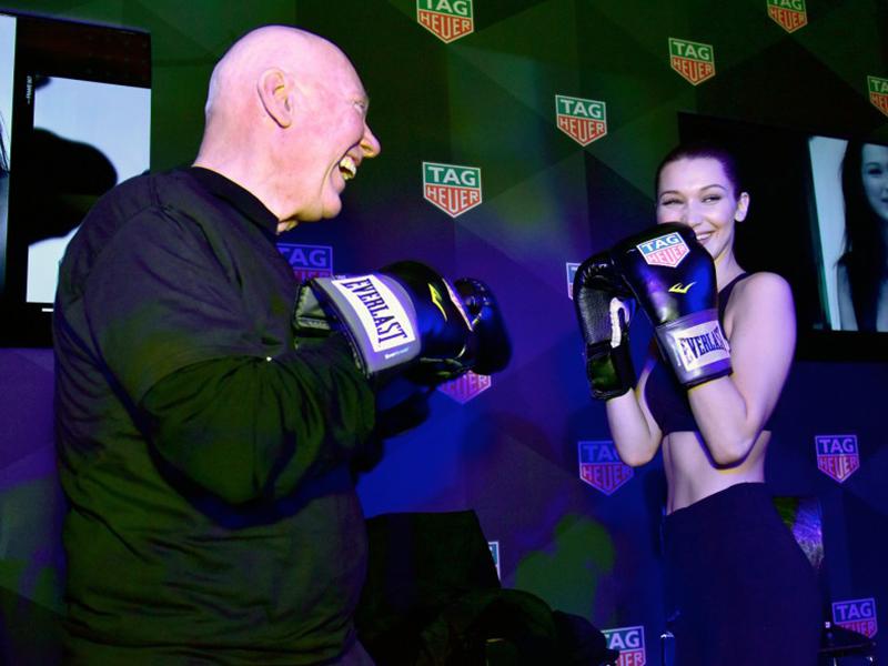 Bella Hadid Tag Heuer Boxing