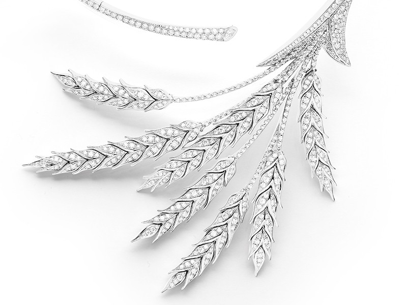 Boucheron Detail of Blé d'été necklace