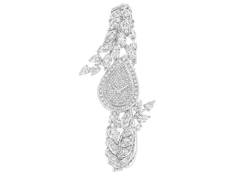 Chanel Brins de Diamants watch mounted on white gold set with 29 fancy-cut diamonds and 296 brilliant-cut diamonds