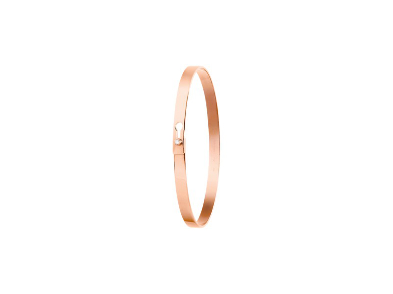 Dinh Van From the Serrure collection mounted on rose gold 18 carats with one diamond, ~3'200€