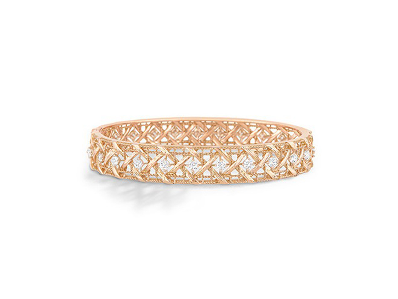 Dior From the My Dior collection mounted on rose gold 18 carats paved with diamonds