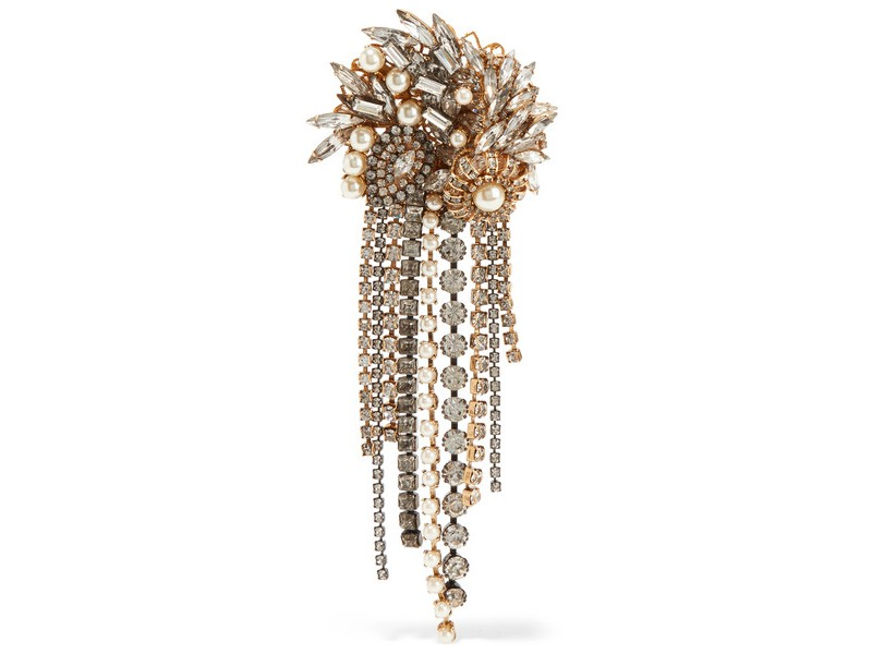 Erickson Beamon Hunger gold-plated with faux pearl and crystal ~ 678 Euros
