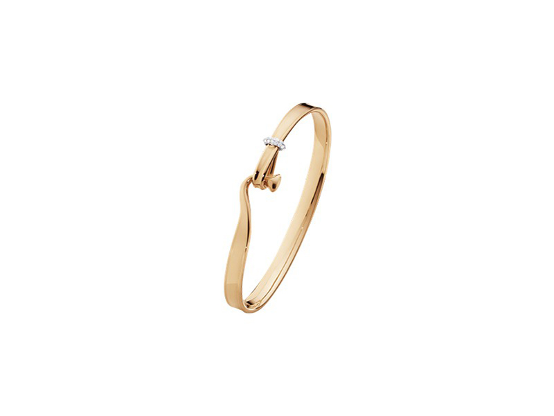 Georg Jensen From the Torun collection mounted on rose gold 18 carats and paved with white brilliant cut diamonds, ~4'250$