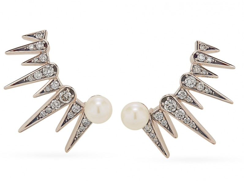 H.Stern From Pearls of Genesis collection - Earrings mounted on gold with pearls and diamonds