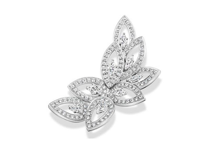 Harry Winston Cluster platinum brooch set with diamonds