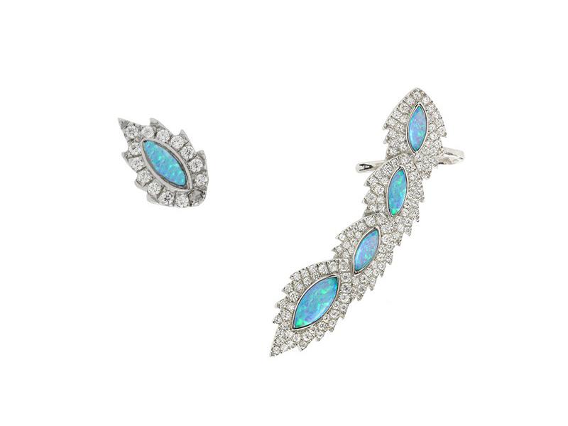 Aaron Jah Stone earrings diamonds