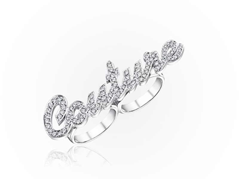 Jason of beverly hills The Couture ring mounted on white gold with white diamonds
