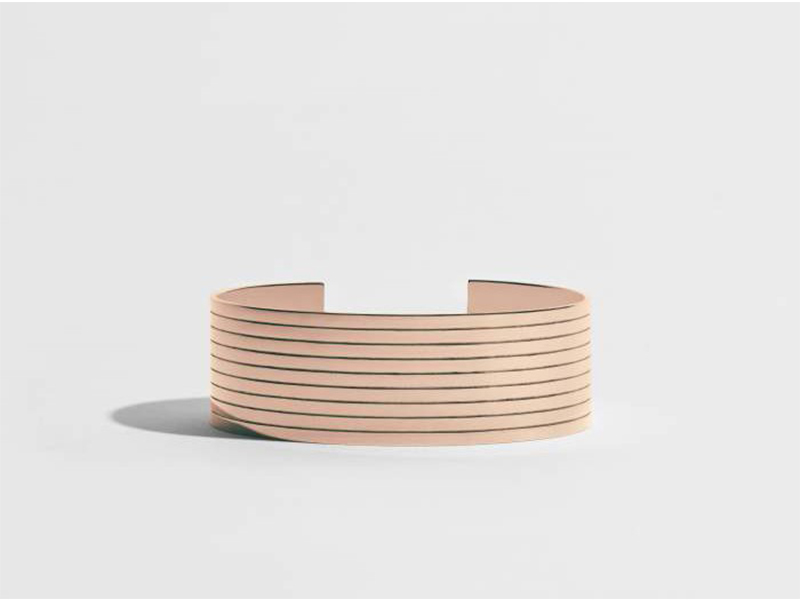 JEM Cuff bracelet from sillons collection mounted on rose gold
