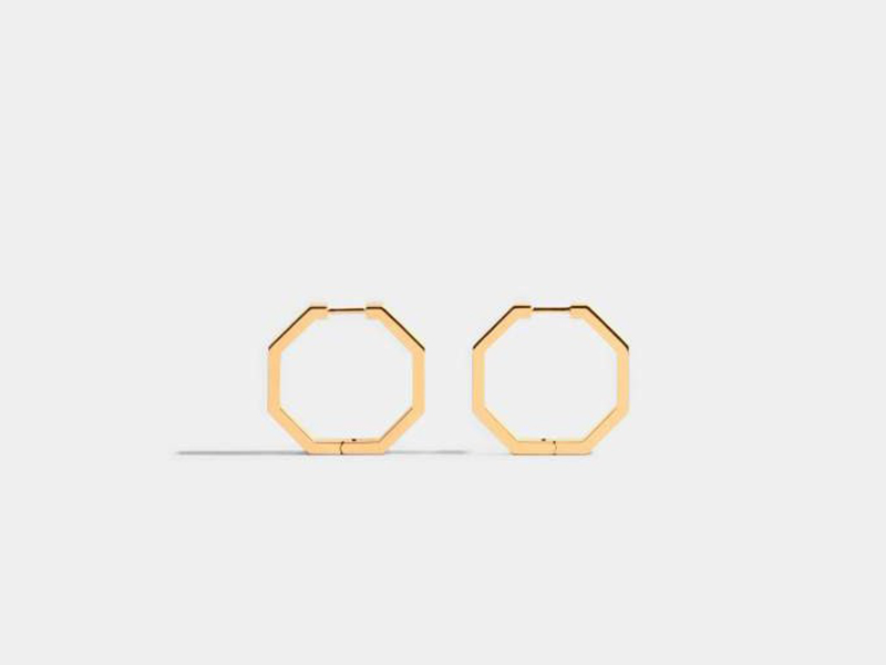 JEM Earrings from octogone collection mounted on yellow gold
