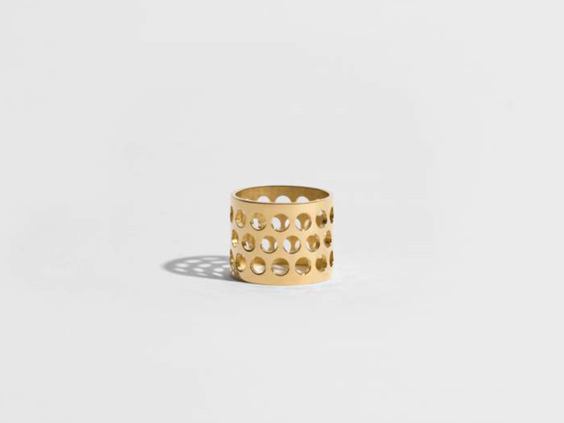 JEM Ring from voids collection mounted on yellow gold