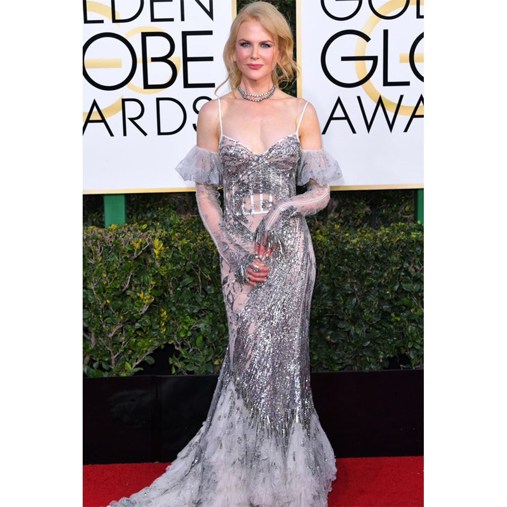 Fred Leighton Nicole Kidman wore 19th Century double strand diamond rivière featuring over 48.0 carats of old mine diamonds