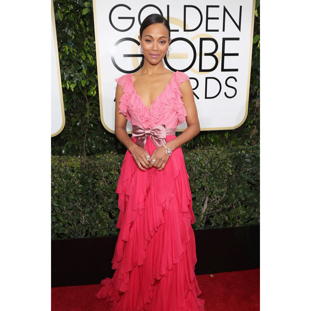 Bulgari Zoe Saldana wore Bulgari jewels