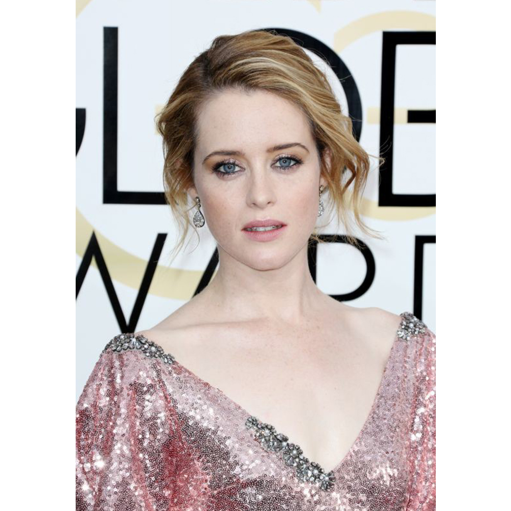 Fred Leighton Claire Foy wore 19th Century diamond teardrop pendant earrings