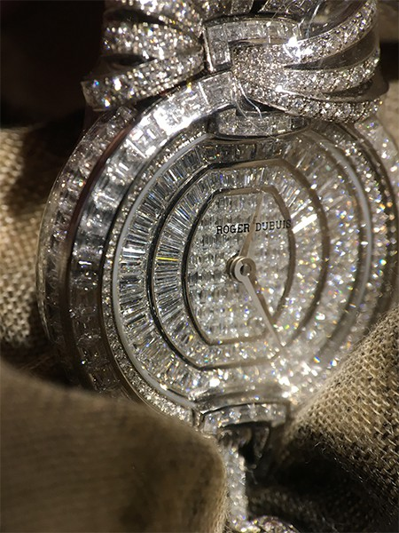 Roger Dubuis Velvet Ribbon watch jewelry necklace diamonds