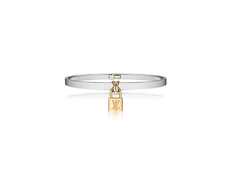 "Louis Vuitton ""Bracelet Lockit"" mounted on yellow gold and white gold 18 carats, ~6'200€"