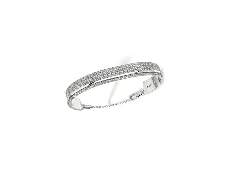 Messika Kate Bangle - paved with 7 lines of diamonds in total