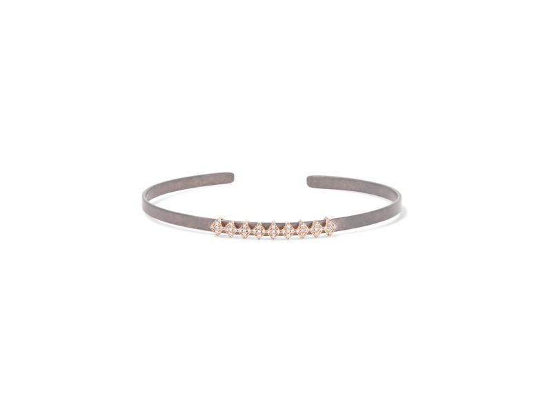 Diane Kordas Titanium cuff with diamonds and rose gold ~ 1'176 Euros