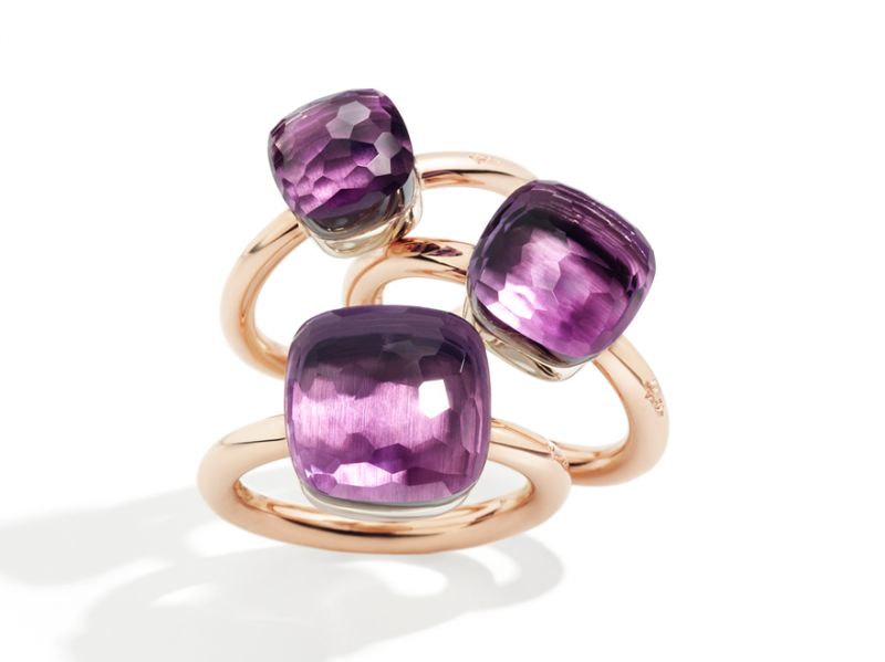 Pomellato From Nudo collection - Rings mounted on rose gold with amethyst
