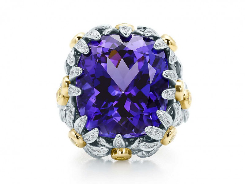 Tiffany & Co Jean Schlumberger Tanzanite flower ring