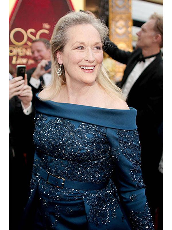 Fred Leighton Meryl Streep dazzles at the Oscars in rose-cut diamond pendant earrings