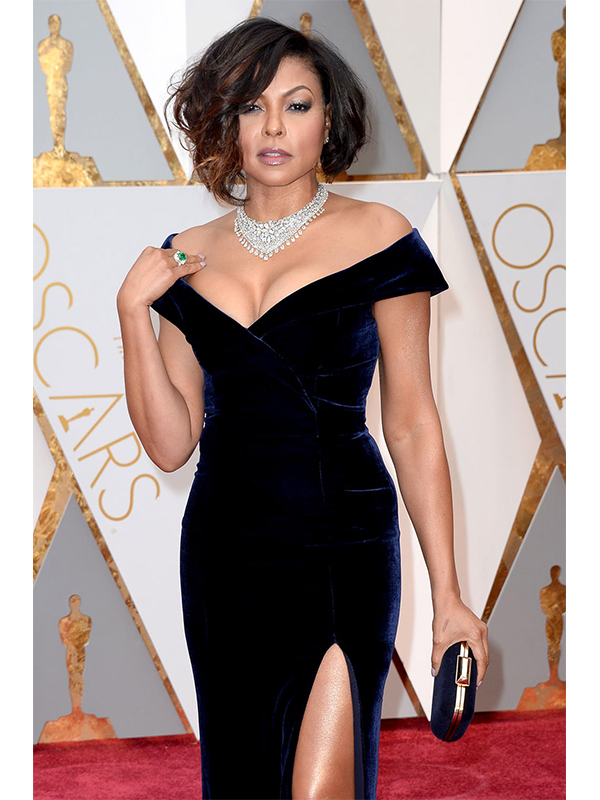 Nirav Modi Taraji P.Henson wore Luminance Necklace and the Evergreen Emerald Ring