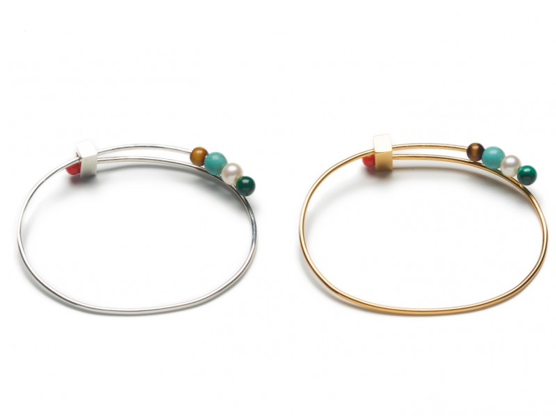 Vibe Harsloef Bangle mounted on goldplated silver with stones, ~ 295 Euros