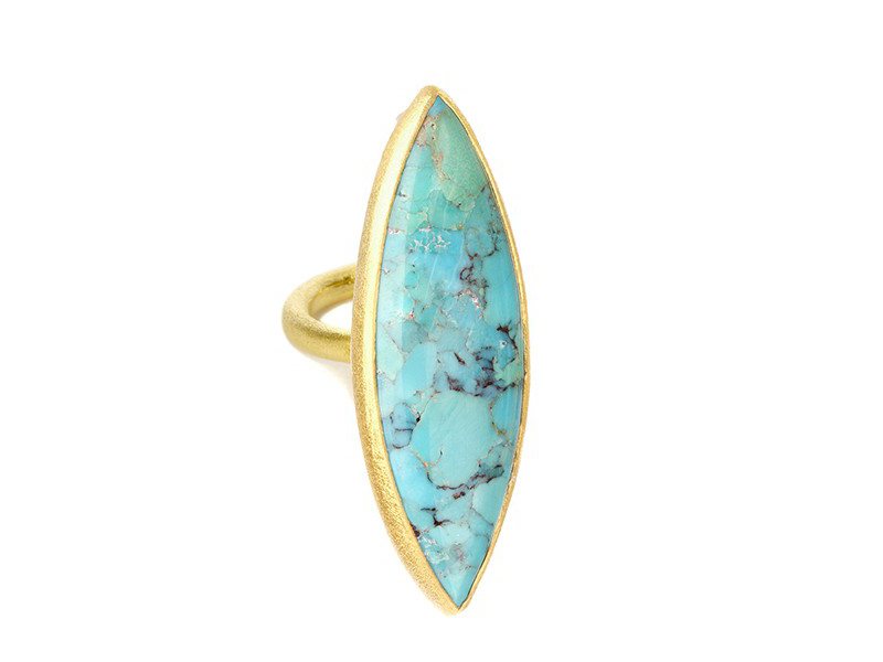 Nina Nguyen Enlightened vermeil ring mounted on vermeil with turquoise ~ USD$ 3'985