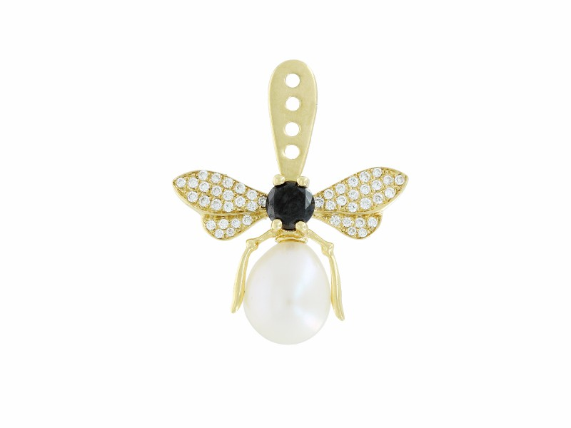 Yvonne Leon This ear jack mounted on yellow gold with white and black diamonds is available at the Pop Up - CHF 2'320