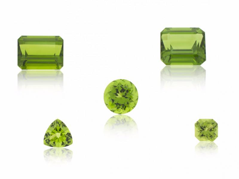 Peridots Stones green