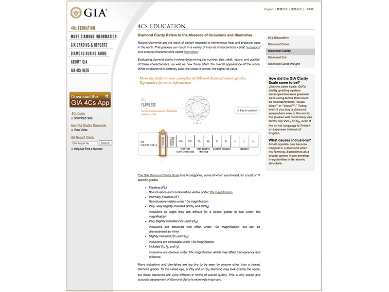 GIA Diamond Clarity