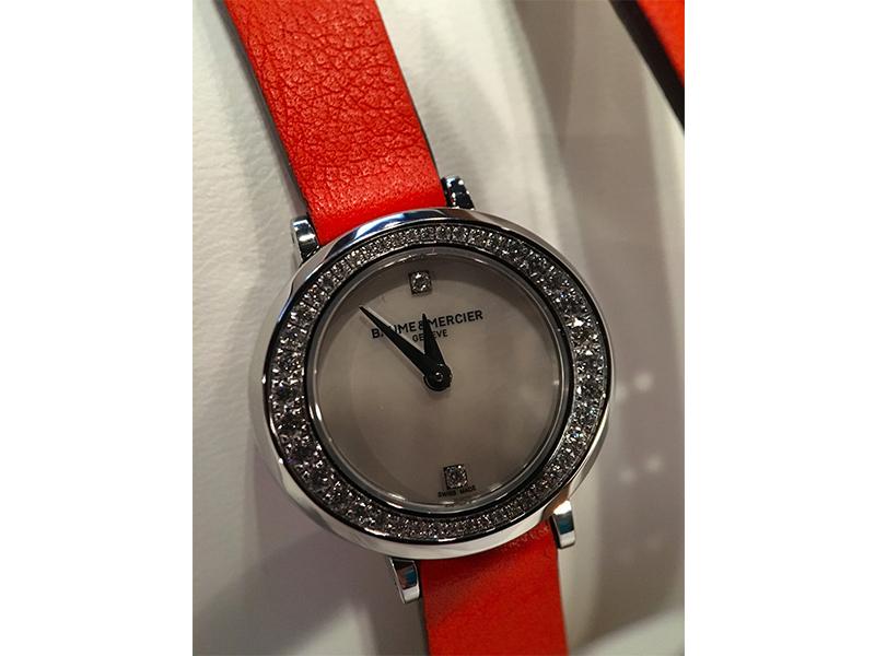 Baume et Mercier woman red watch