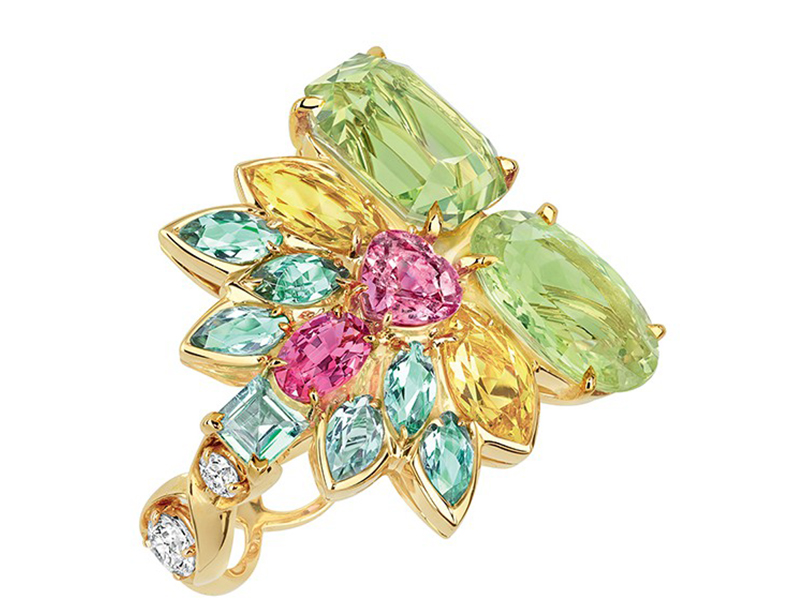 Dior The Granville Collecton - Multicolor ring mounted on yellow gold with chrysoberyl